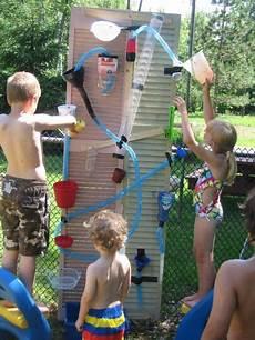 Spiele Mit Wasser Im Garten - water wall diy wasserspiele f 252 r kinder garten