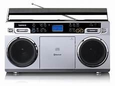 lenco vintage ghettoblaster mit cd player usb und