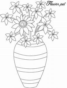 Ausmalbilder Blumenvase Made Flower Vase Coloring Page Coloring Sky