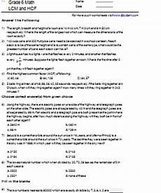 pictures gcf lcm word problems worksheet drawings art gallery
