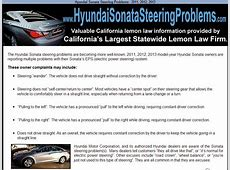 2013 Hyundai Sonata Steering Problems