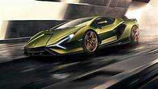 lamborghini unveils its first hybrid sports car sian