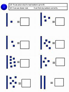 place value worksheet to 20 5659 place value using dienes 3 days differentiated across 3 abilities by bentaylor8 teaching