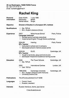sle resume cv for english teacher business english englishclub