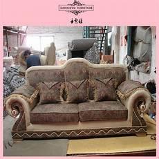 oak classic design solid wood sofa set indoor