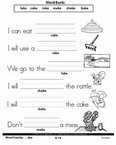 worksheets language arts grade 1 1st grade language arts word families