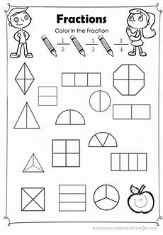 basic coloring worksheet to identify fractions related fractions math fractions teaching math