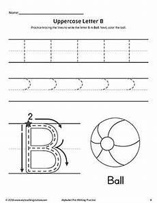 worksheets letter b kindergarten 24348 uppercase letter b pre writing practice worksheet pre writing practice writing practice