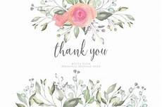 thank you card template in floral thank you card template vector free