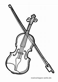 malvorlage geige musik kostenlose ausmalbilder geige
