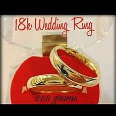 18k saudi gold wedding ring pair shopee philippines