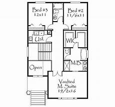 uphill slope house plans plan 8563ms narrow uphill lot house plans floor plans