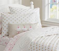 gold polka dot quilted bedding pottery barn kids