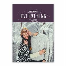 merry everything holiday card invitations by dawn