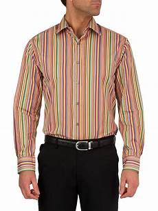 paul smith formal cotton longsleeved striped shirt in