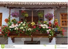 Gran Canaria Teror Flower Pot Balcony Stock Image Image