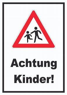 hinweisschild warnschild achtung vorsicht kinder kfz