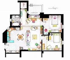 Sitcom Apartment Blueprints by Friends L Appartement De Et F R I E N D