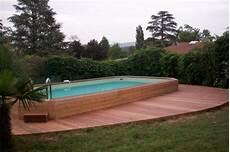piscine hors sol wandgestaltung wohnzimmer enterrer une piscine hors sol