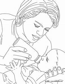 pediatric bottle feeding a new born baby coloring