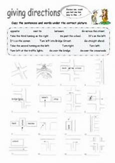 giving directions worksheets 11680 giving directions esl worksheet by foreign