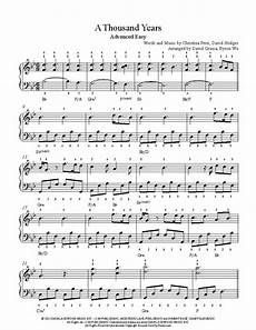 a thousand years by perri piano sheet music