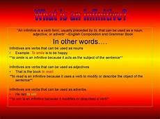 an infinitive is a verb form презентация онлайн