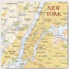 Stadtplan New York - new york city map location square print by bombus