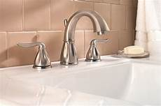 pfister sedona 2 handle 8 quot widespread bathroom faucet in brushed nickel touch on bathroom sink