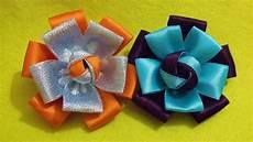 D I Y Easy Satin Ribbon Flower Tutorial My