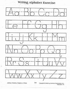 practice tracing the alphabet with this simple