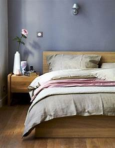 Bedroom Colour Ideas With Oak Furniture by A Bedroom With Oak Furniture And Grey Pink Textiles Www