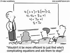 Algebra Cartoon 6877 Wouldnt It Be More Efficient To