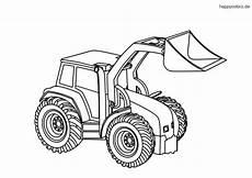 ausmalbilder traktor mit schaufel kinder ausmalbilder