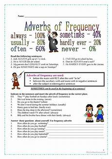 free worksheets on adjectives 18672 frequency adverbs worksheet free esl printable worksheets made by teachers