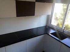 Plan De Travail En Granit Noir Mat Cuisine Ile