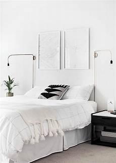 Aesthetic Bedroom Ideas Minimalist by Minimalist White Bedroom With Gold Sconces White Bedroom