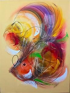 Jual Lukisan Abstrak Ikan At 36 Di Lapak Sukawati Painting