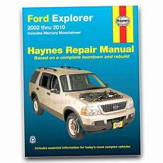 all car manuals free 2010 ford explorer sport trac parking system haynes repair manual for 2002 2010 ford explorer shop service garage book hx ebay