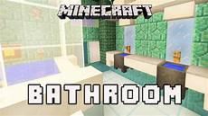 minecraft bathroom ideas minecraft tutorial how to make a modern bathroom design coral house part 11