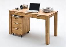 Schreibtisch Rollcontainer Eiche Massiv 7418 Kaufen