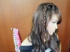 easy bohemian braids waves hairstyle hair tutorial youtube