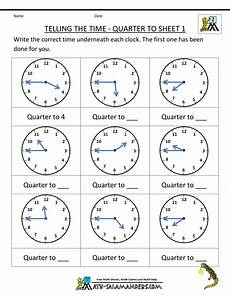 telling time worksheets printables 3706 clock worksheet quarter past and quarter to telling time worksheets time worksheets clock