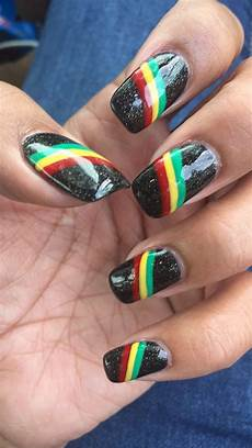 rasta nails one love rasta nails tie dye nails makeup