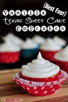 best ever vanilla texas sheet cake cupcakes with cheese frosting