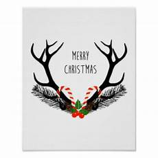 christmas deer posters zazzle