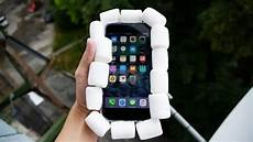 Iphone A 100 Can Marshmallows Protect Iphone 7 Plus From 100 Ft Drop