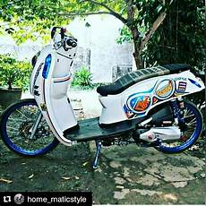 Scoopy 2016 Modif by Contoh Modifikasi Motor Honda Scoopy Thailookers Blogs