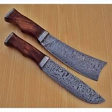 kitchen knives with sheaths lot of 2 pcs damascus kitchen knife custom handmade