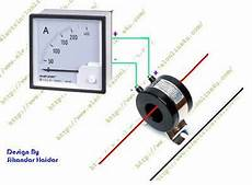 panel ac ammeter wiring diagram with current transformer ec electric current transformer